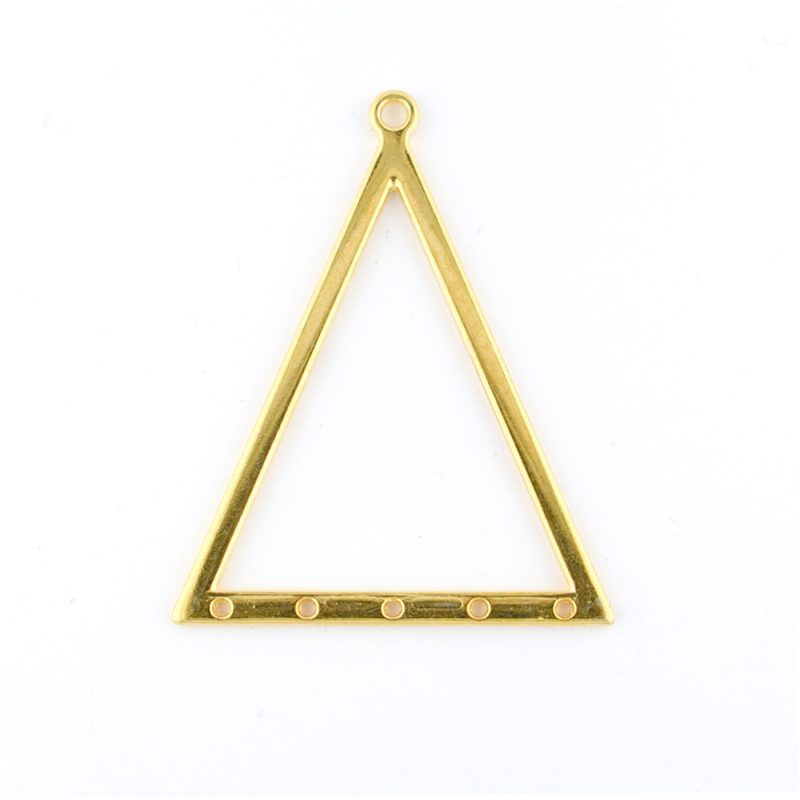 gold plated triangle pendant