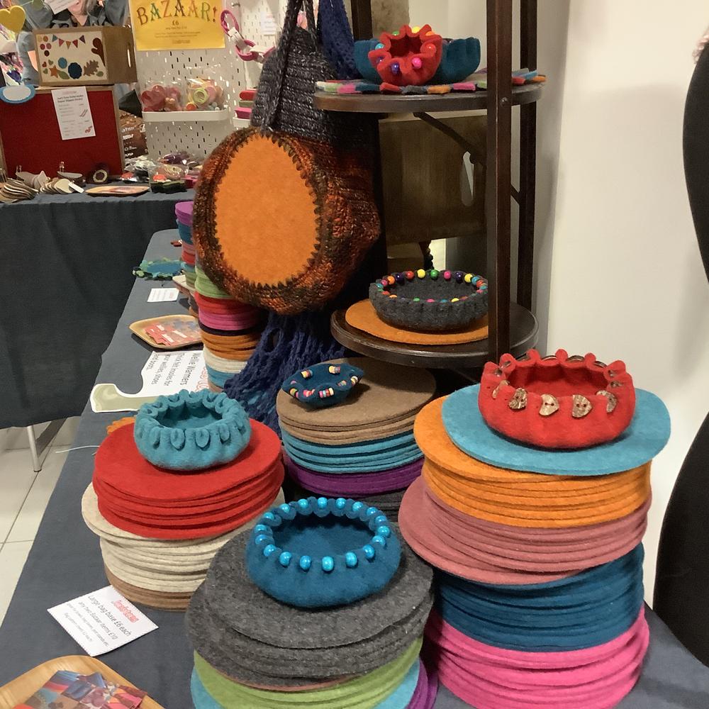 Felt circles and bowls at Joe's Toe - The Bead Shop Nottingham Blog