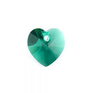 Swarovski Emerald Heart Pendant