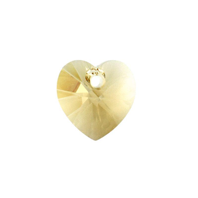 Swarovski Light Colorado Topaz Heart Pendant