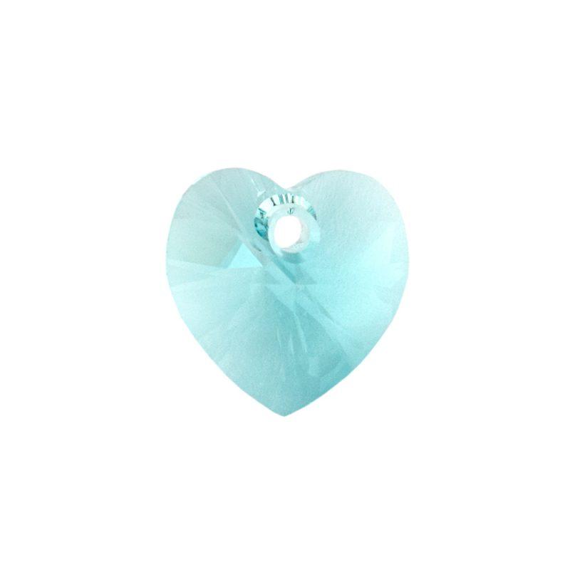 Swarovski Light Turquoise heart pendant