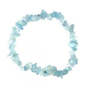 Semi-Precious Aquamarine Tumblechip Bracelet