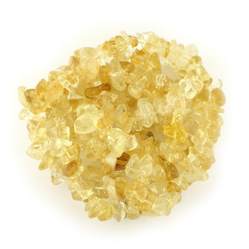 Citrine semi precious tumblechip beads