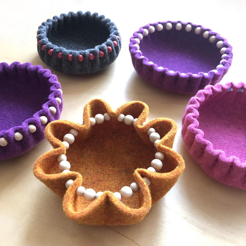 felt bowl variations - The Bead Shop Nottingham