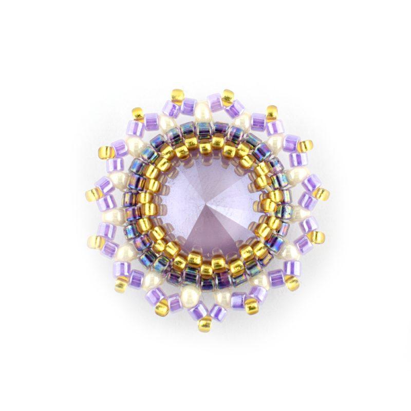 Lilac Rivoli Bezel - Kit - the Bead Shop Nottingham