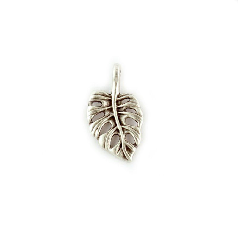 Metal cheese plant leaf charm