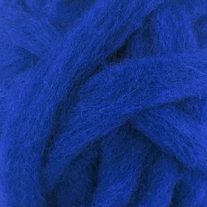 Bright Blue Corriedale roving for felting