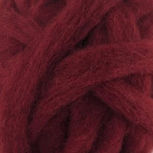 Deep Red Corriedale roving for felting
