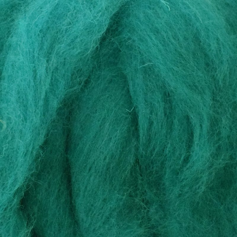 Teal Corriedale roving for felting