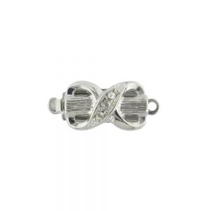 Elegant silver plated box clasp