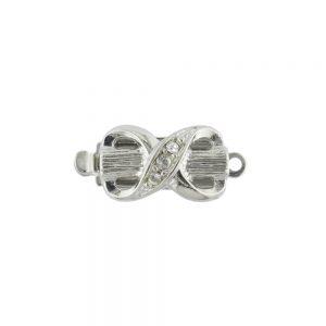 Elegant silver plated box clasp