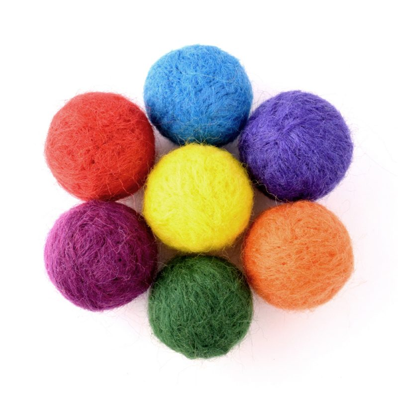felted bead flower