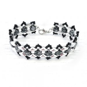 Honey Ripple Bracelet Kit - Black and Silver
