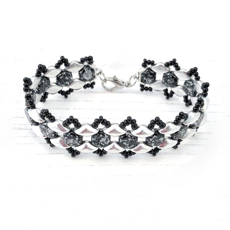 Honey Ripple Bracelet Kit - Black and Silver