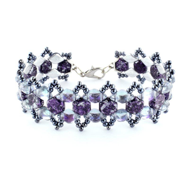 Honey Ripple Bracelet Kit - Purple and GreyGrey
