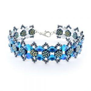 Honey Ripple Bracelet kit Blue and Grey