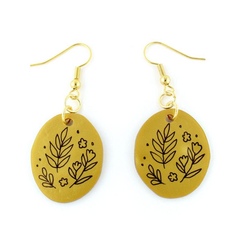 Hand drawn earrings - shrink plastic jewellery kit