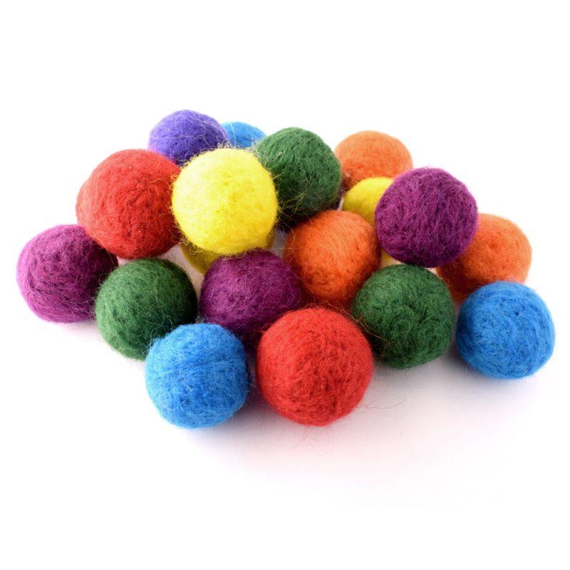 Needle felted beads
