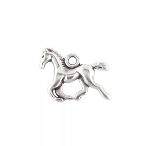 Horse Charm Antique Silver
