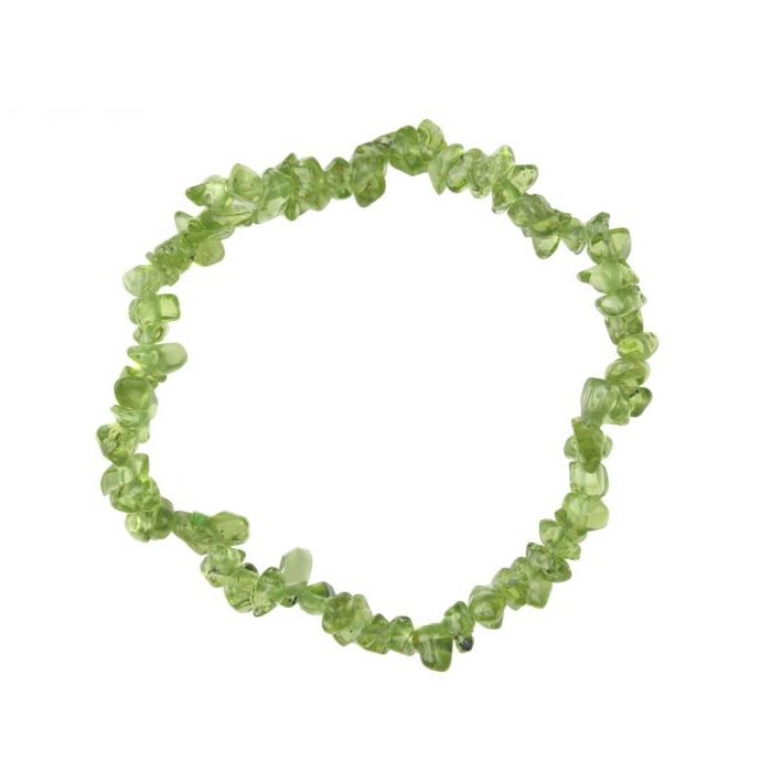 Peridot tumblechip bracelet