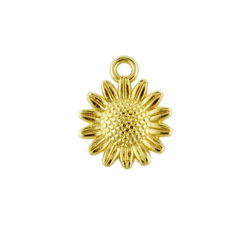 Gold Plated Sunflower Charm