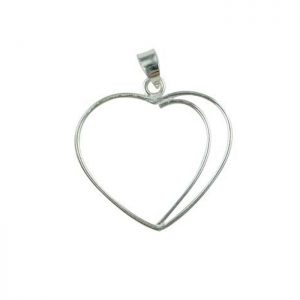 Sterling Silver hearty pendant