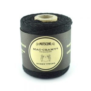 1mm black Macrame Fine Cotton Cord - The Bead Shop Nottingham