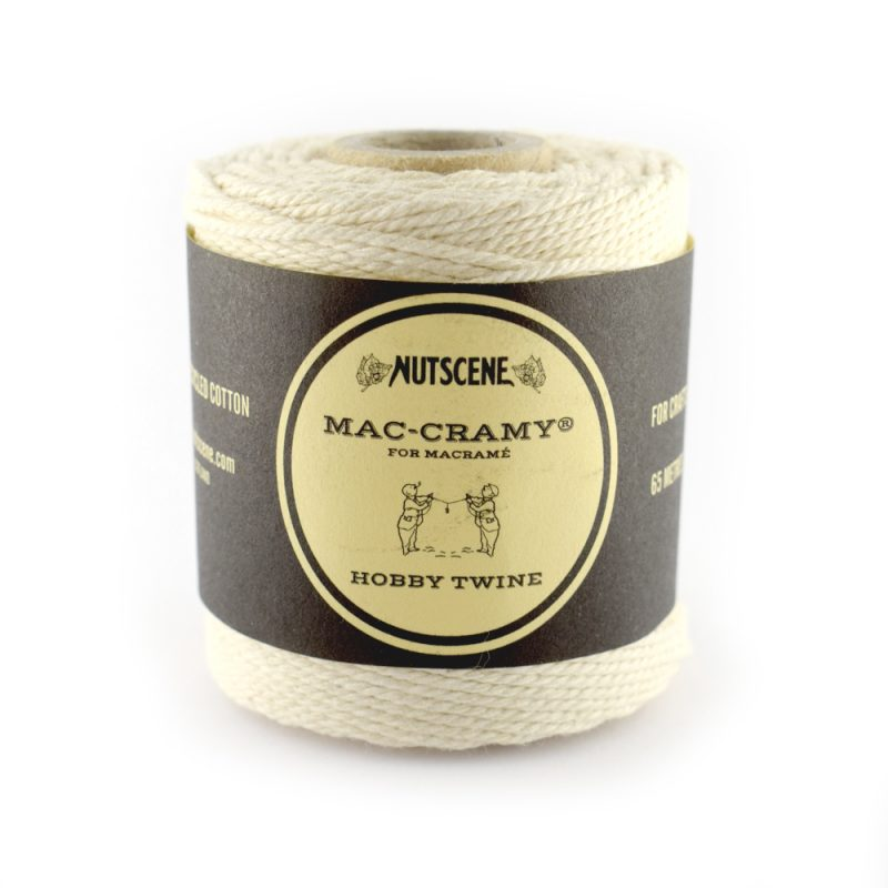 1mm Cream Macrame Fine Cotton Cord
