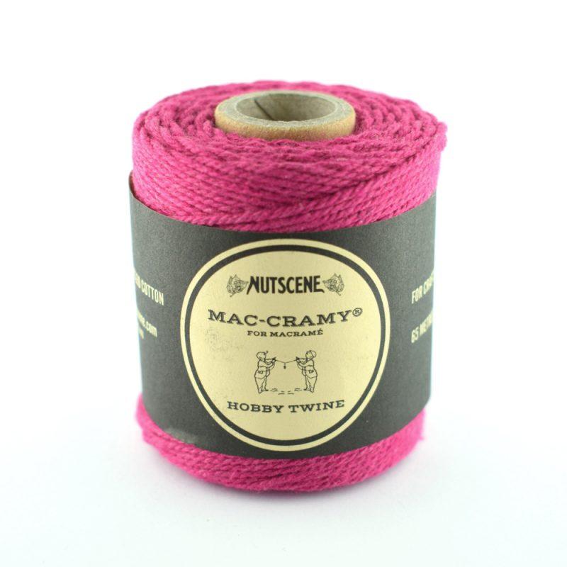 1mm Deep Pink Macrame Fine Cotton Cord - The Bead Shop Nottingham