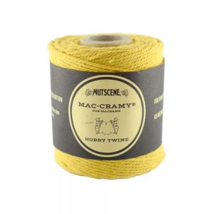 1mm Mustard Macrame Fine Cotton Cord