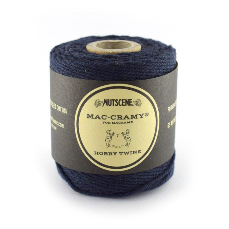 1mm navy fine macrame cotton cord - The Bead Shop Nottingham