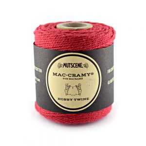 1mm Red Macrame Fine Cotton Cord