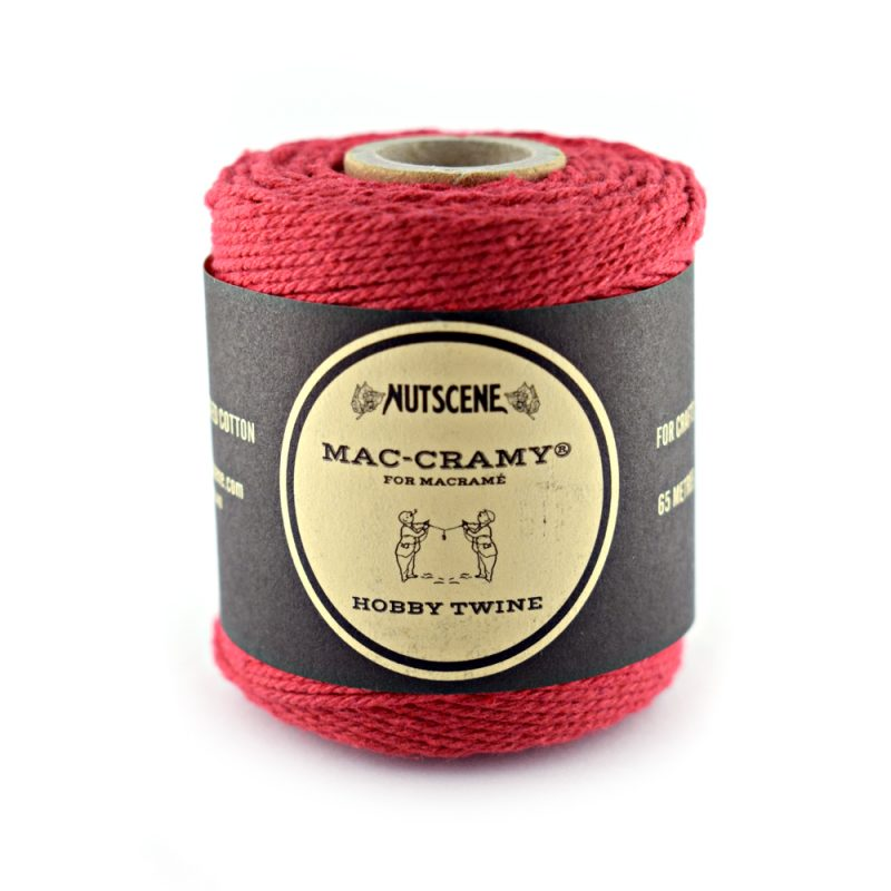 1mm Red Macrame Fine Cotton Cord
