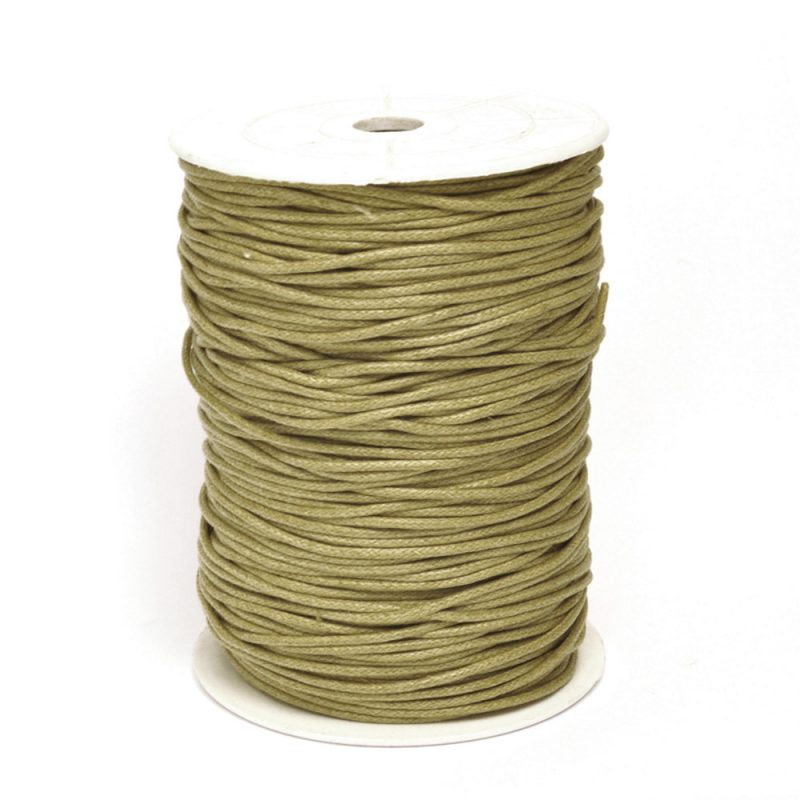 Light Olive brown 2mm cotton cord