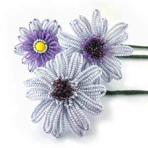 Beaded Gerbera collection made & designed by Lesley Belton