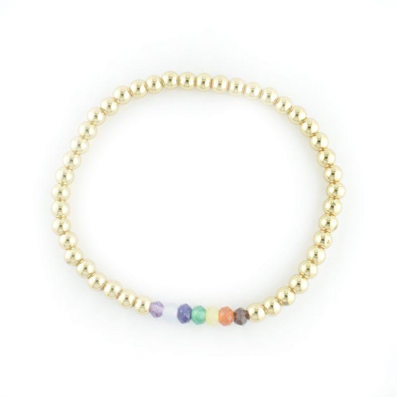Chakra Bracelet gold Plated Hematite - The Bead Shop