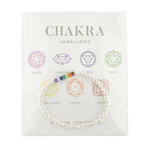 Chakra Bracelet Silver Plated Hematite