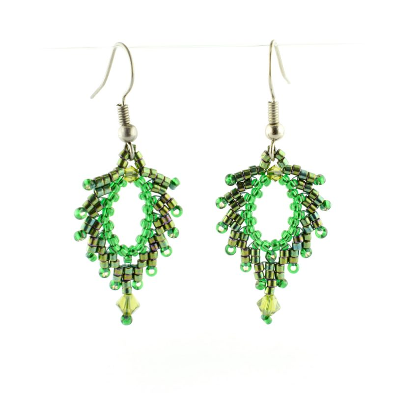 Leaf Earrings Kit - Spring - St. Petersburg Stitch