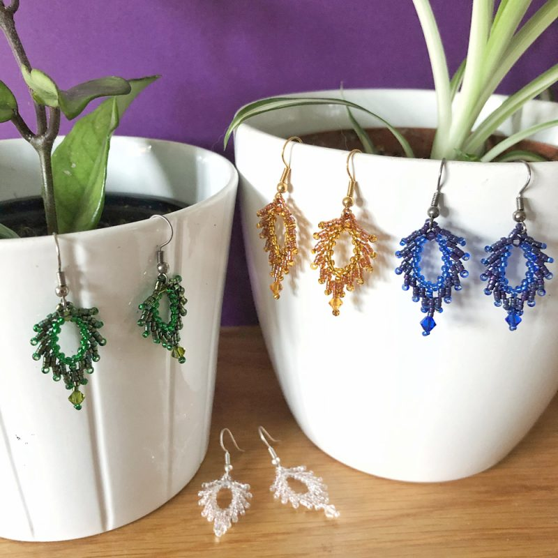 Leaf Earrings Kits - The Bead Shop Nottingham