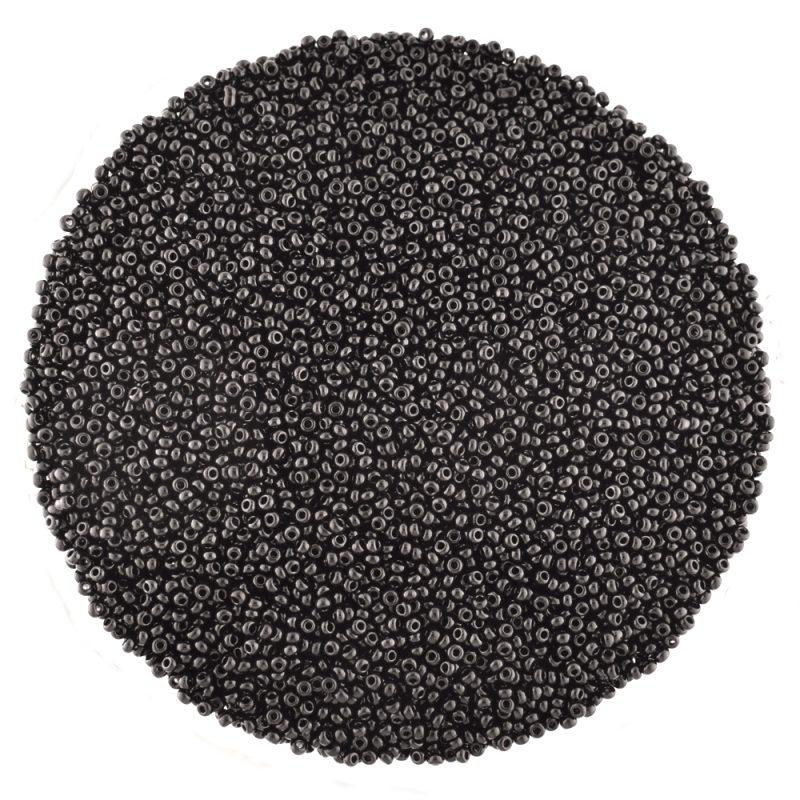 Preciosa czech glass seed beads opaque black