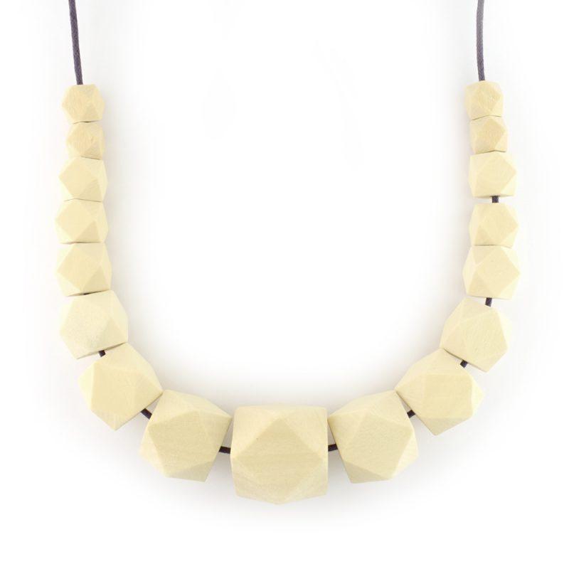 Geometric wooden bead set