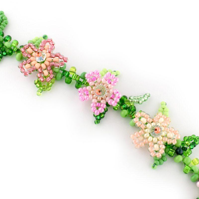 Pink Trailing flower bracelet