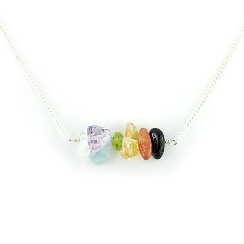 Tumblechip chakra necklace