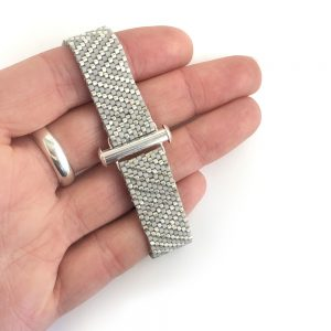 Deco Argent bracelet - peyote stitch beading kit