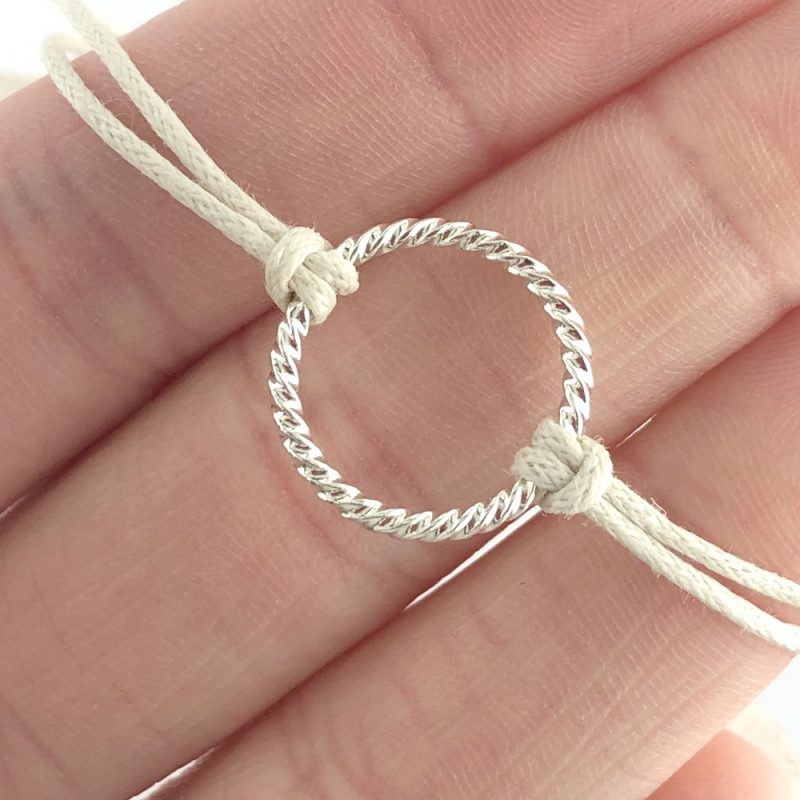Natural cord stacking bracelet