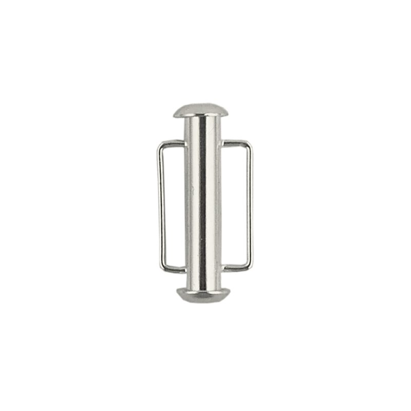 Bar slider clasp silver plated