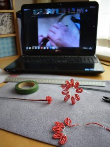 Virtual workshop in progress - The Bead Shop Nottingham