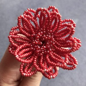 layers of my french beaded flower