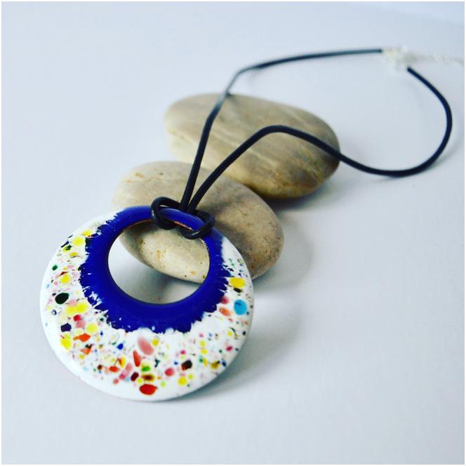 Enamel pendant by Katie Sanderson