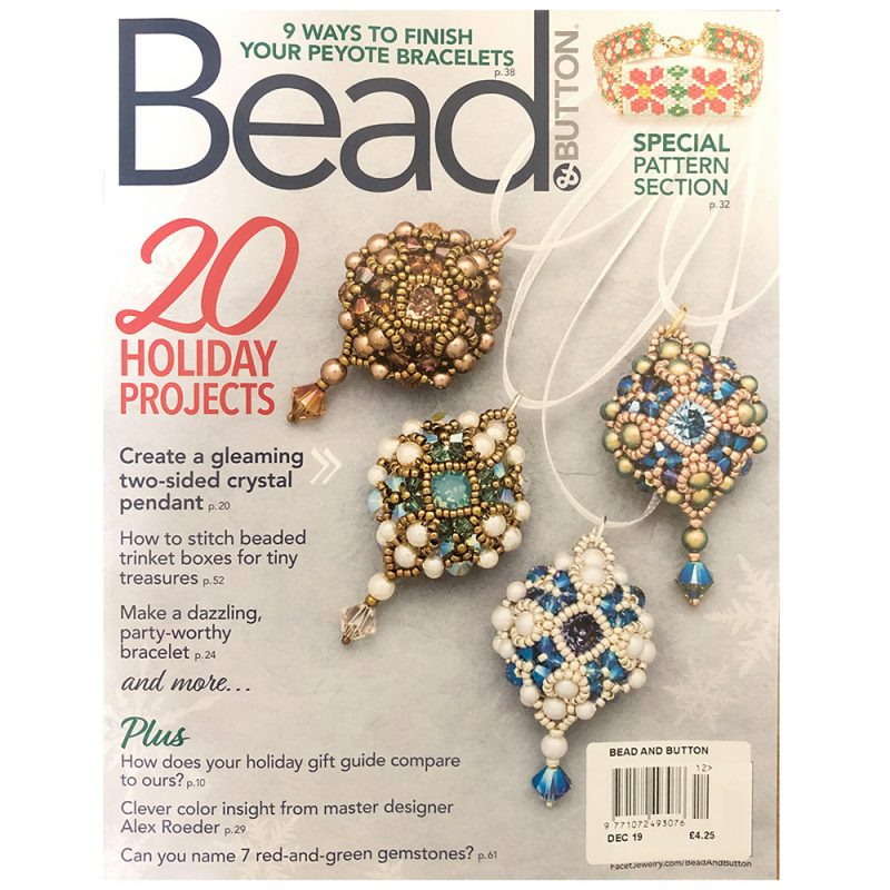 Bead and button Magazine Dec 2019 issue